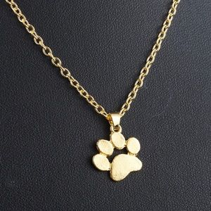 Jewelry - Golden Paw Necklace Animal Lover Pet Pets Dog Cat